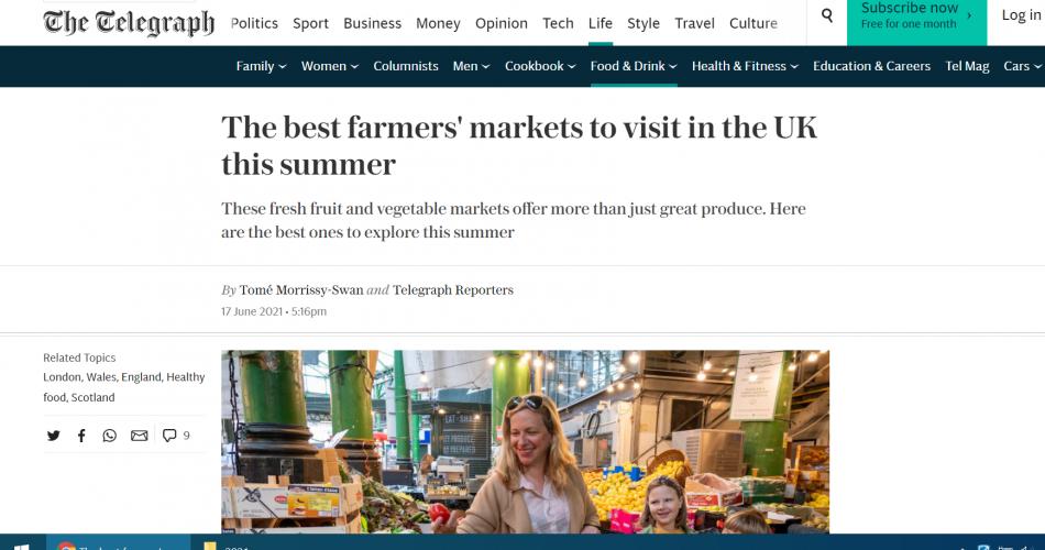 best farmers markets Telegraph